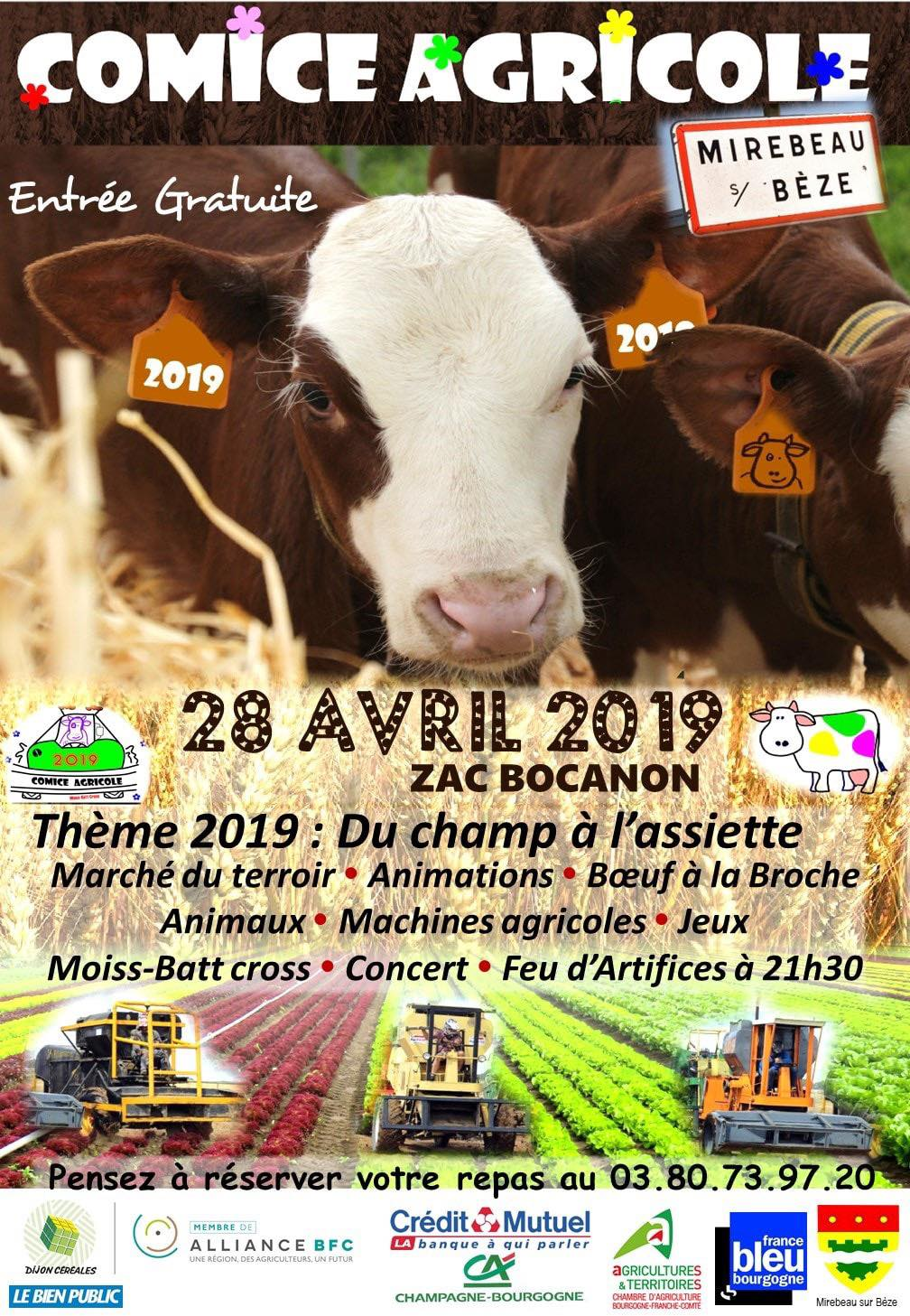 Comice de Mirebeau, le 28 avril 2019