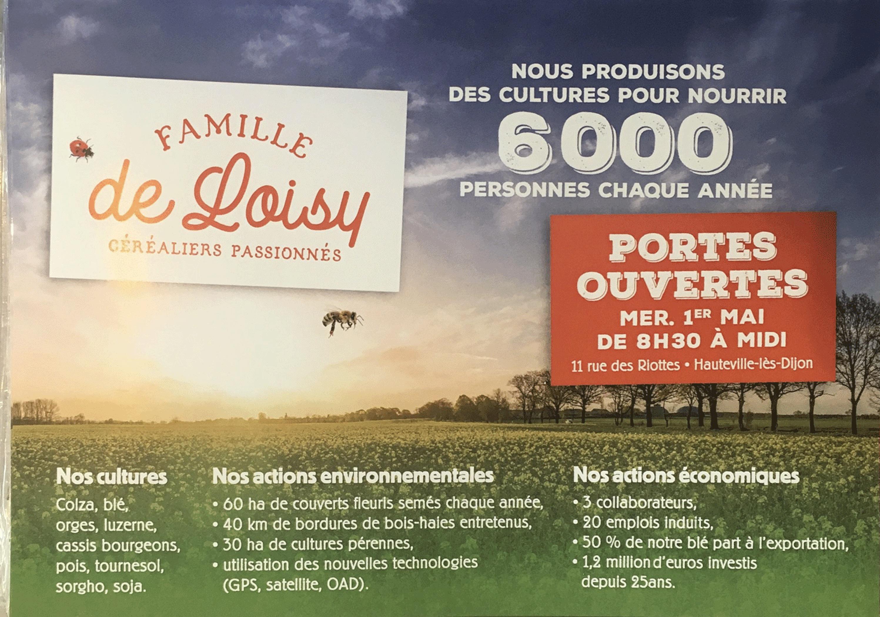 Ferme ouverte chez la Famille de Loisy ce 1er mai